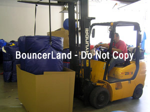 shipping an inflatable bouncer